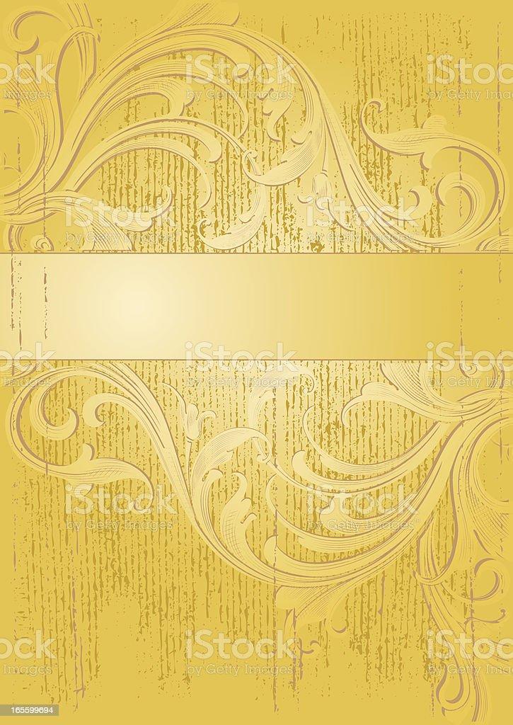 Gold Arabesque Grunge vector art illustration