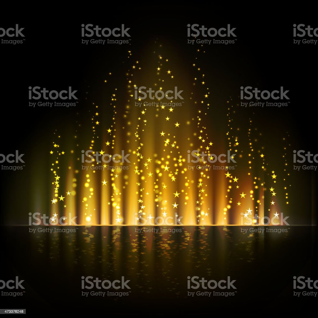 Gold aurora light. Abstract vector backgrounds vector art illustration