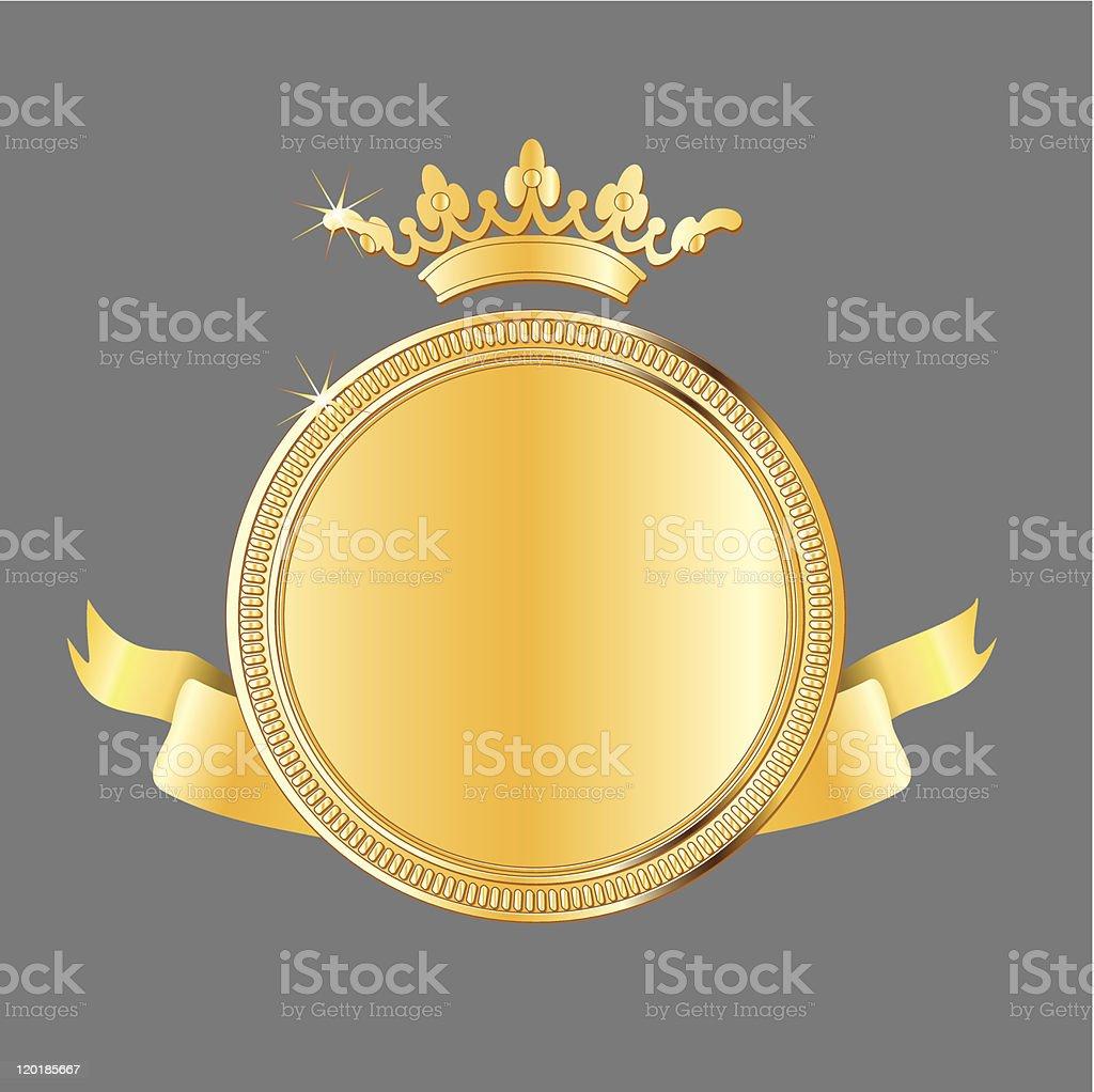 gold award medal vector art illustration