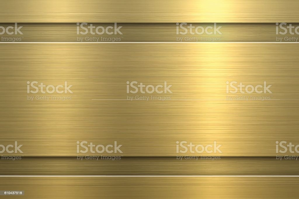 Gold Background - Metal Texture vector art illustration