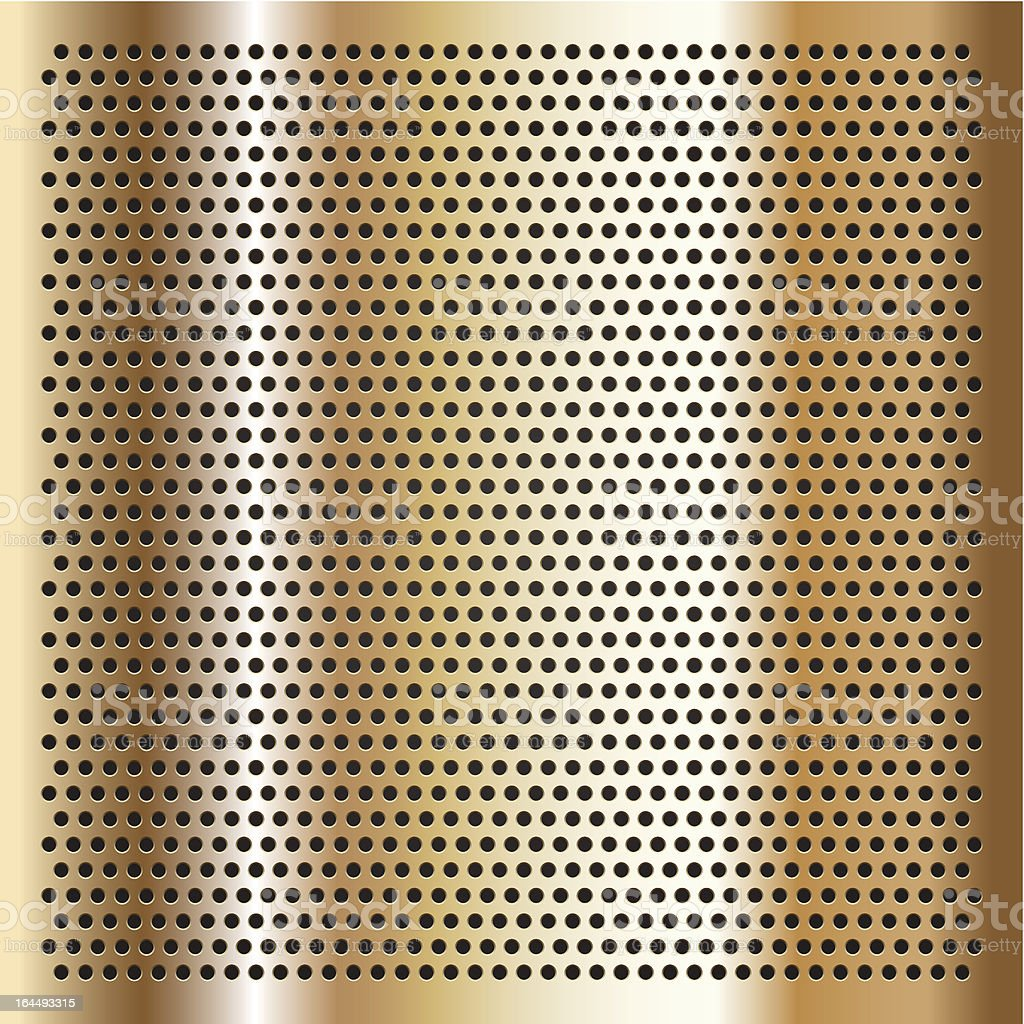 Gold background perforated sheet royalty-free stock vector art