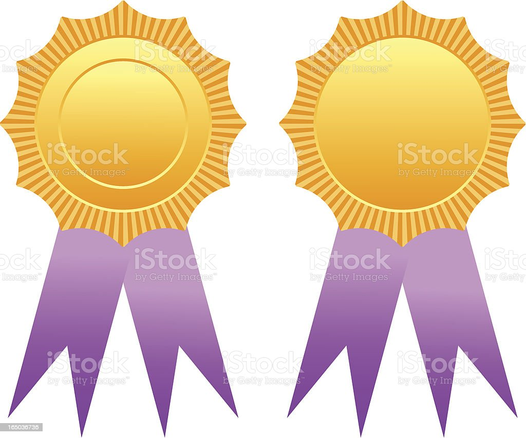 Gold badge or medal royalty-free stock vector art