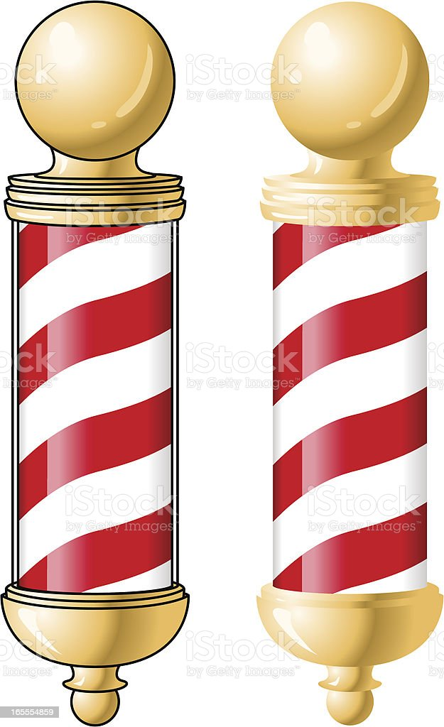 Gold Barber Pole royalty-free stock vector art