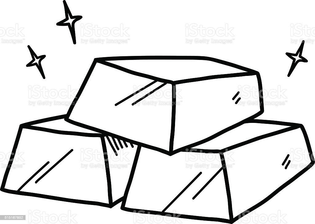 Gold Bars Doodle Stock Vector Art 515187852
