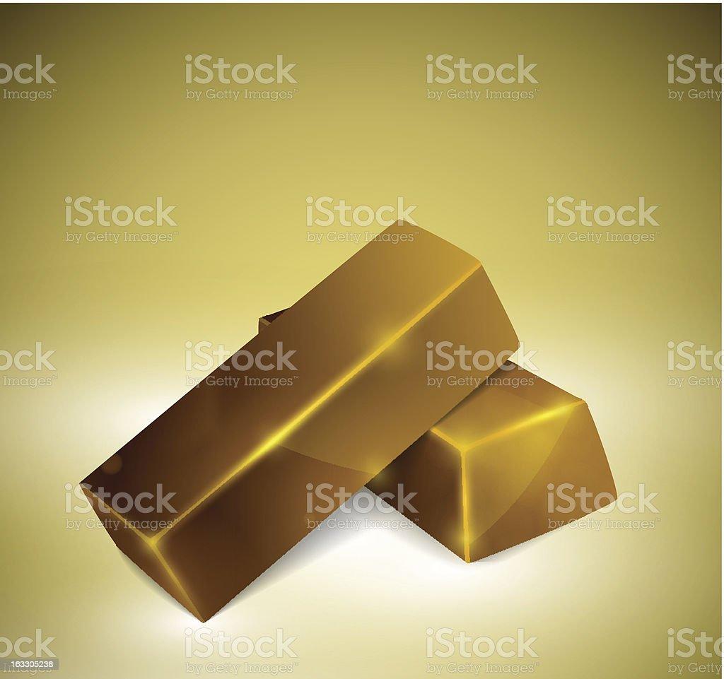 Gold bars vector art illustration