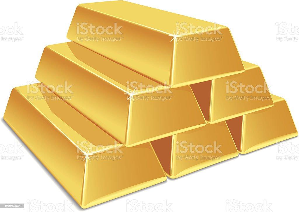 Gold Bars royalty-free stock vector art
