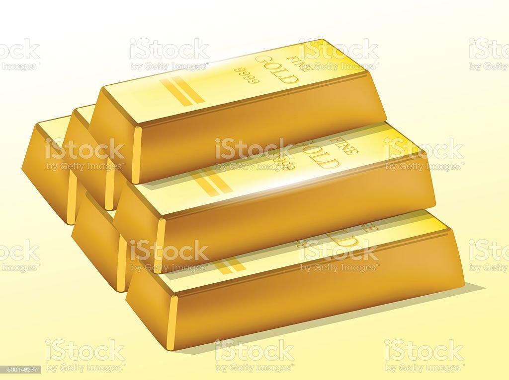 Gold Bar stock vecteur libres de droits libre de droits