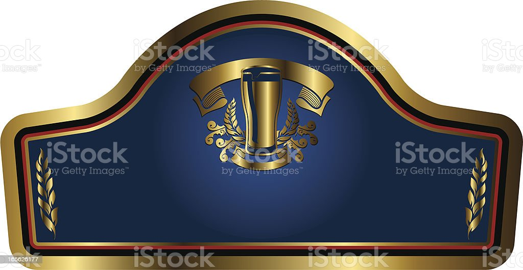 gold beer label royalty-free stock vector art