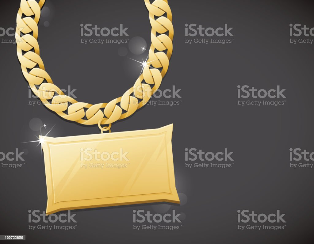 Gold Bling Chain Background vector art illustration