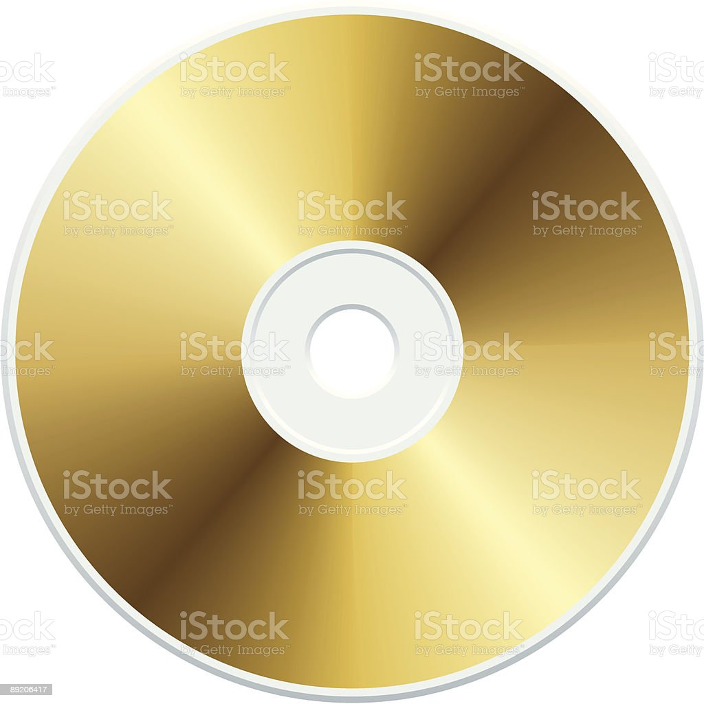 Gold CD royalty-free stock vector art