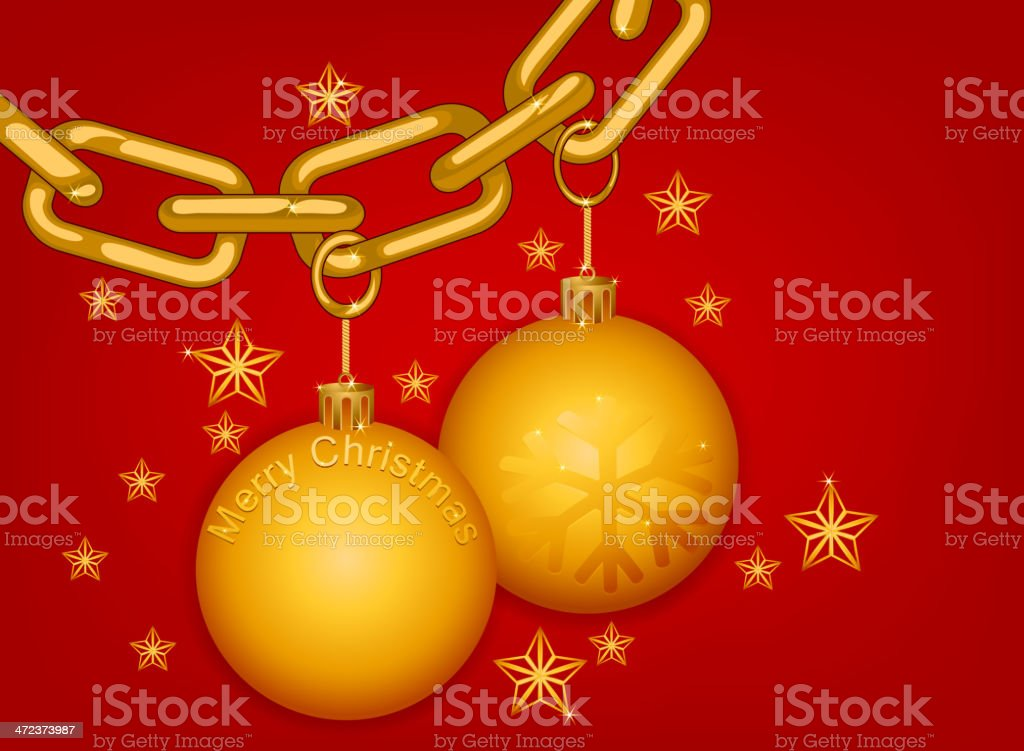Gold chain Merry Christmas royalty-free stock vector art