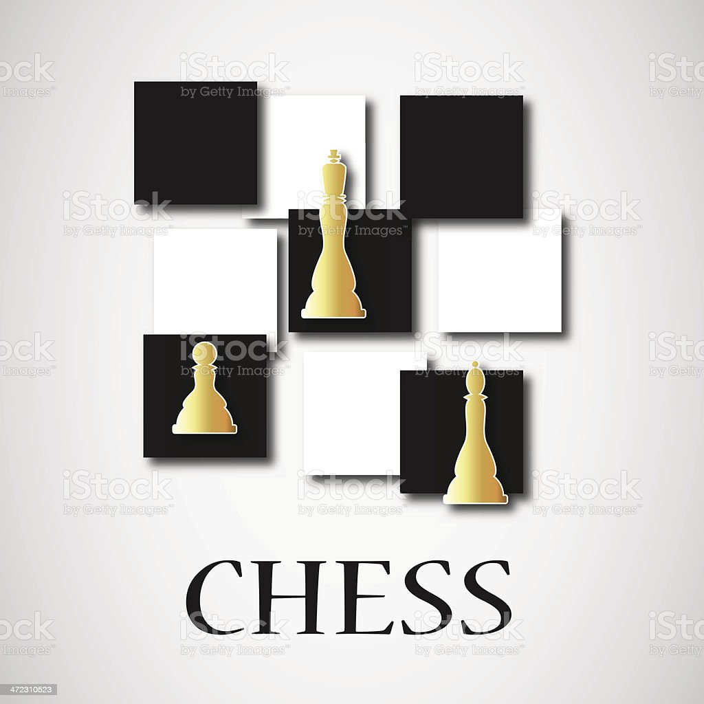 gold chess royalty-free stock vector art