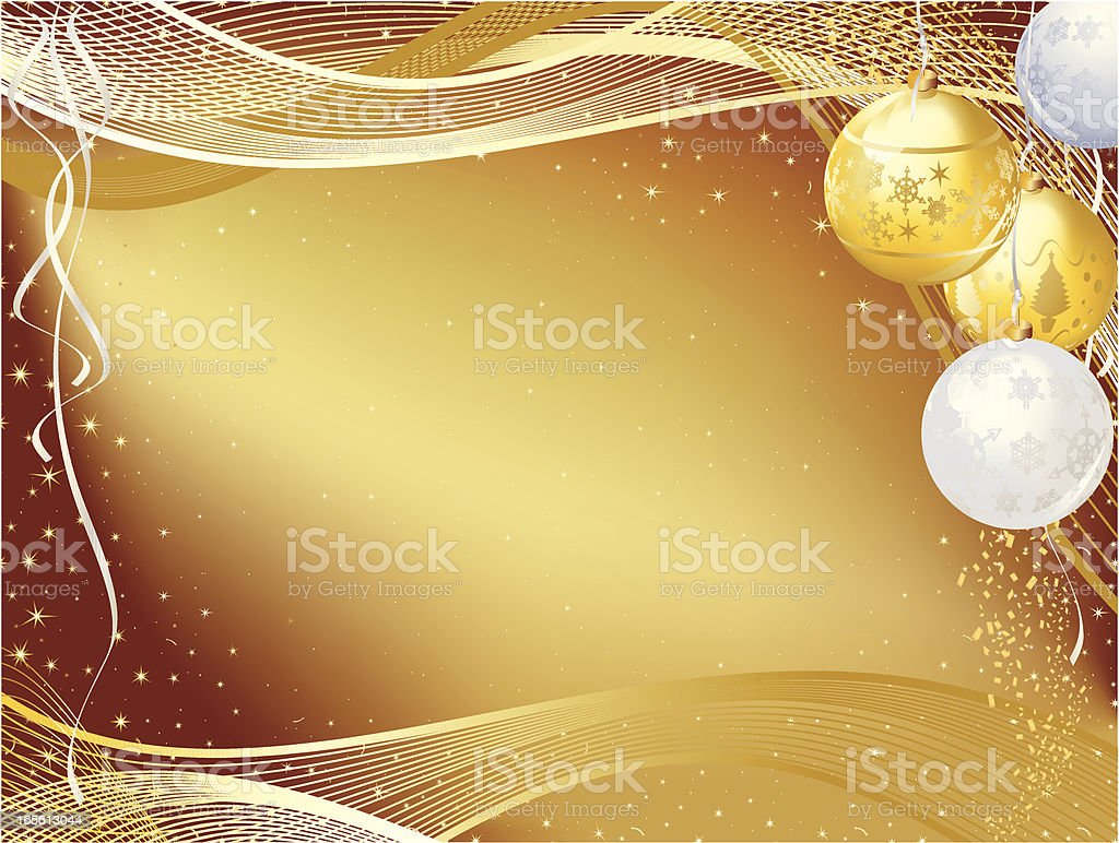Gold Christmas Bauble Background royalty-free stock vector art