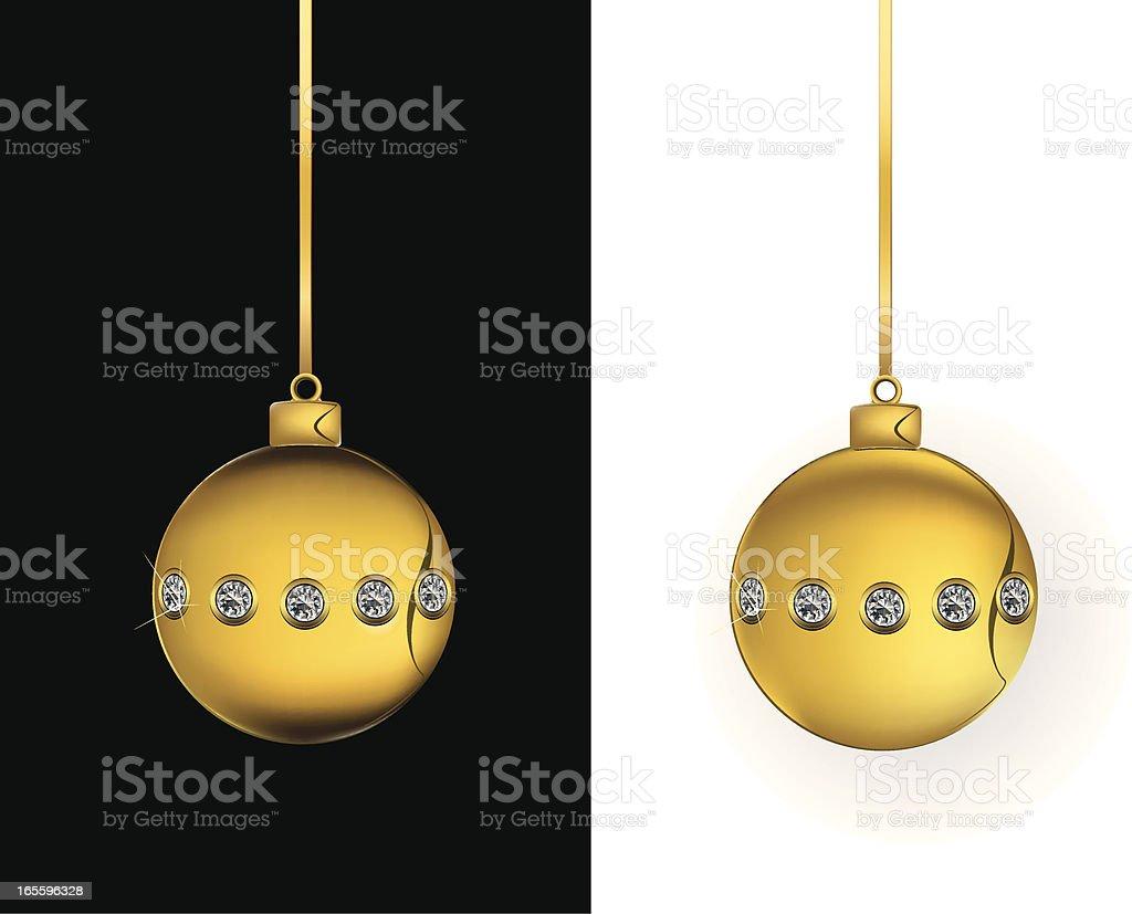 Gold Christmas Bling Ornament royalty-free stock vector art