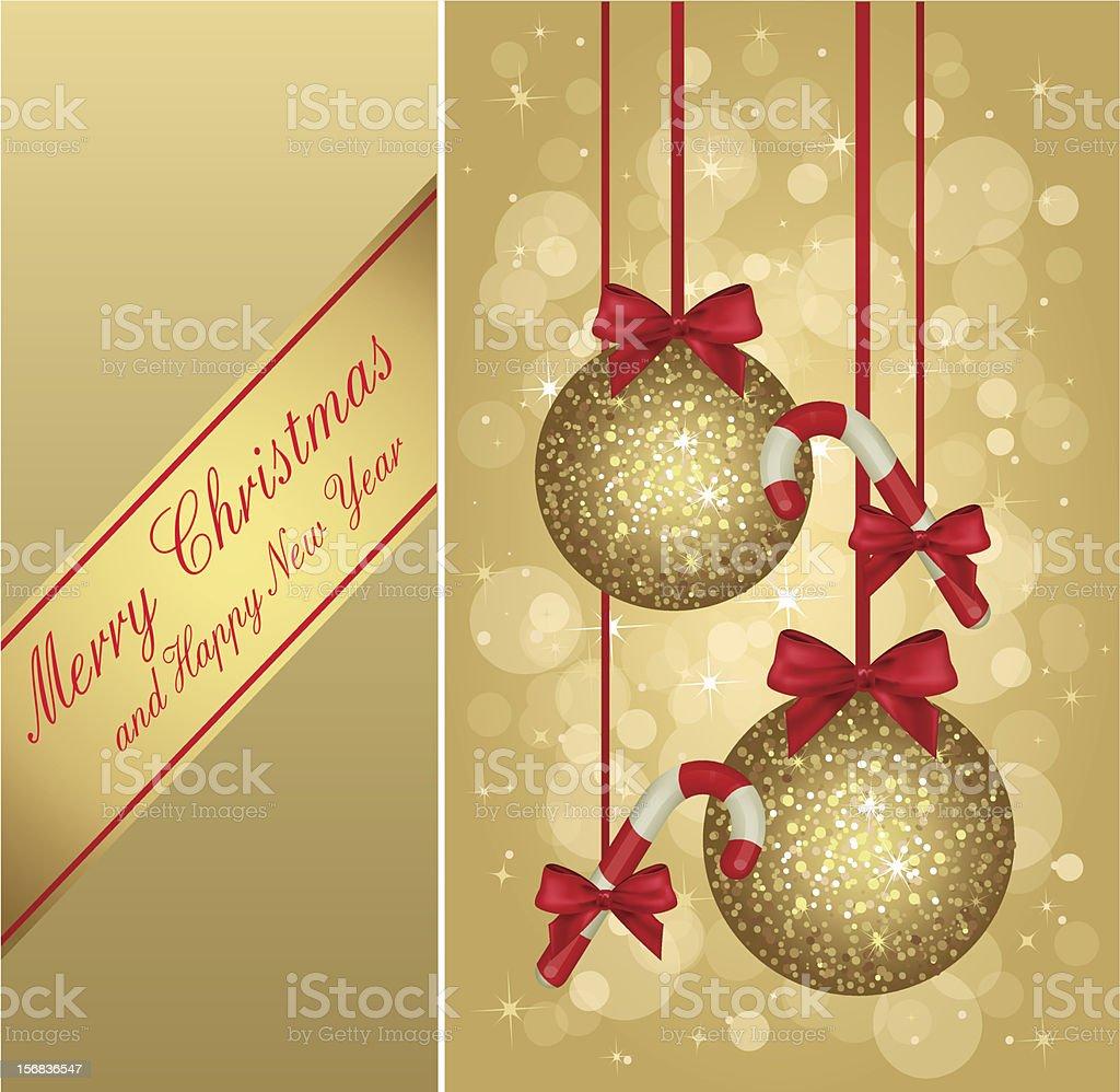 gold christmas greeting card royalty-free stock vector art