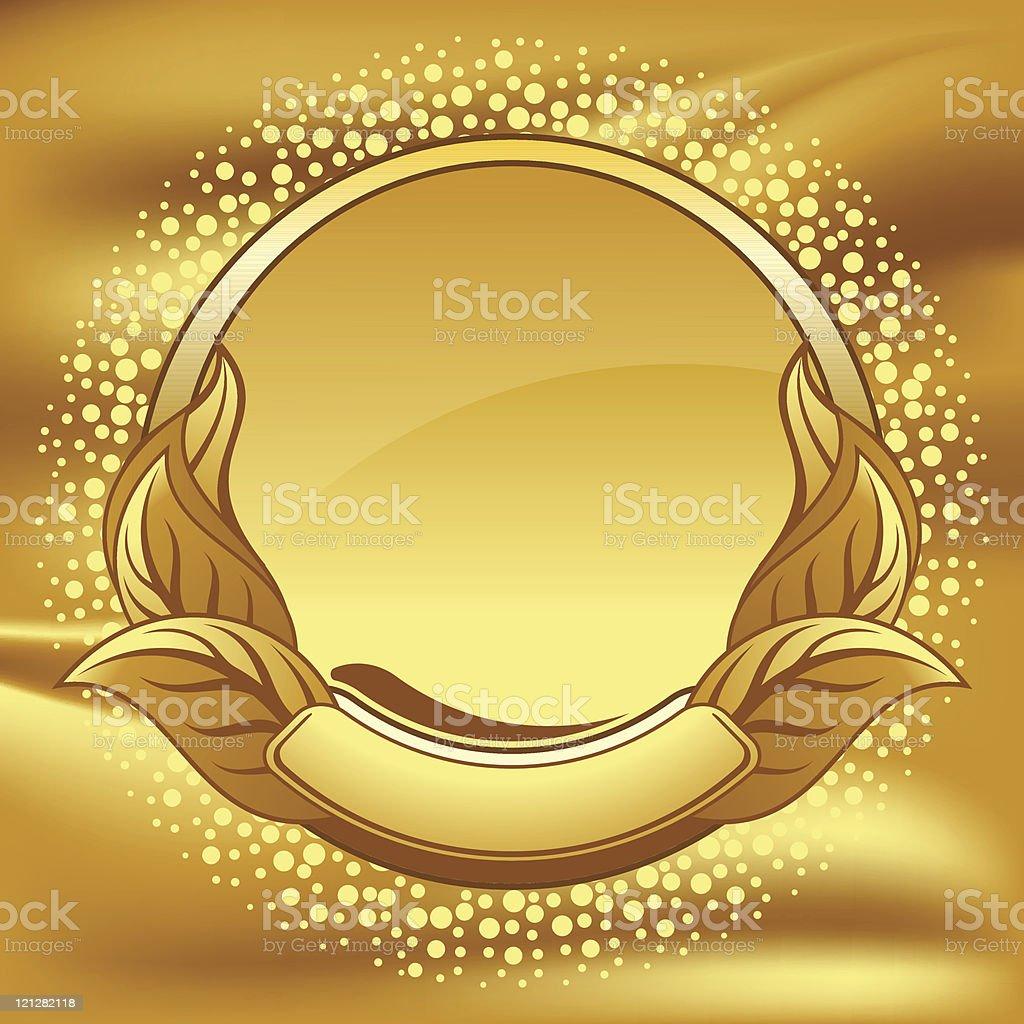Gold circle frame royalty-free stock vector art