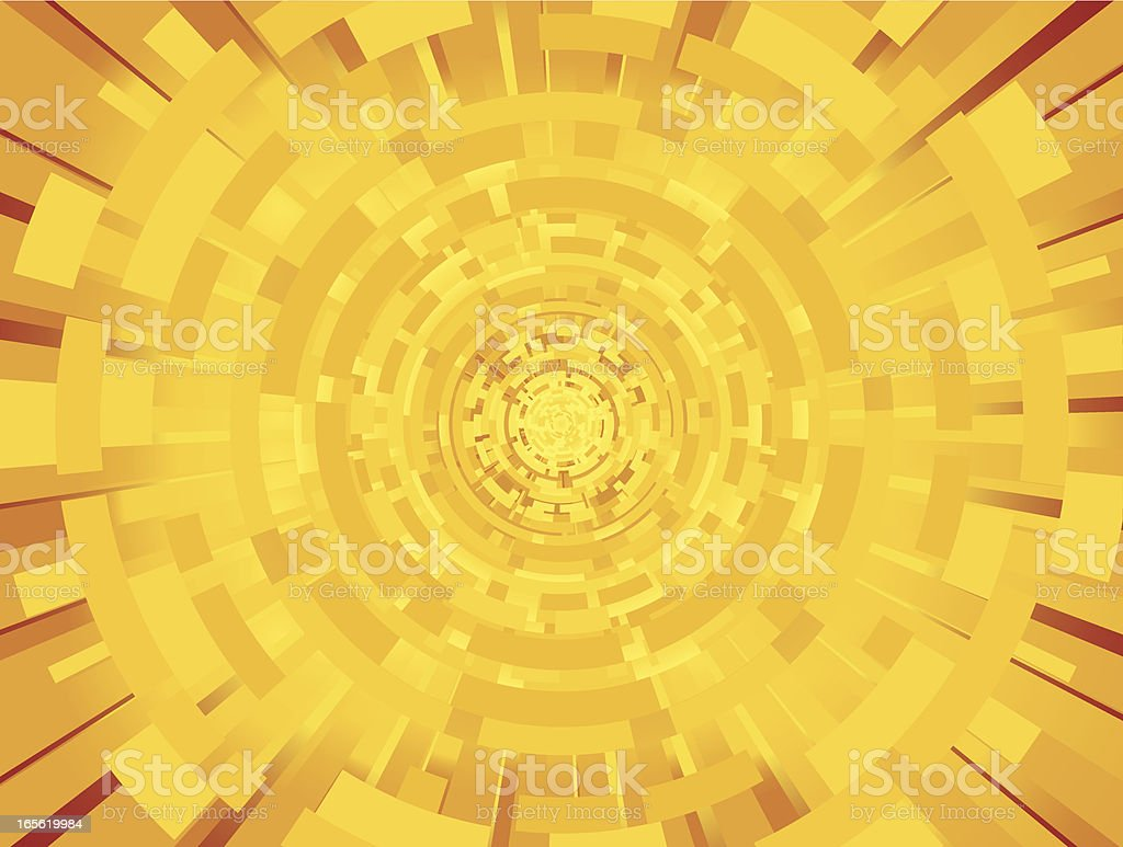 Gold Circle Glow Abstract  Background Horiz royalty-free stock vector art