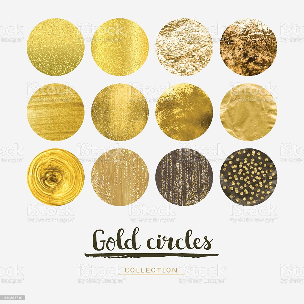Gold circles vector art illustration