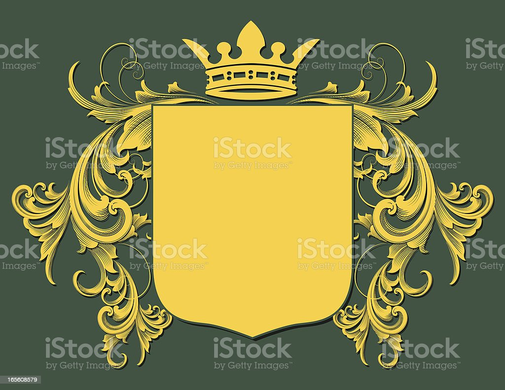 Gold Coat of Arms royalty-free stock vector art