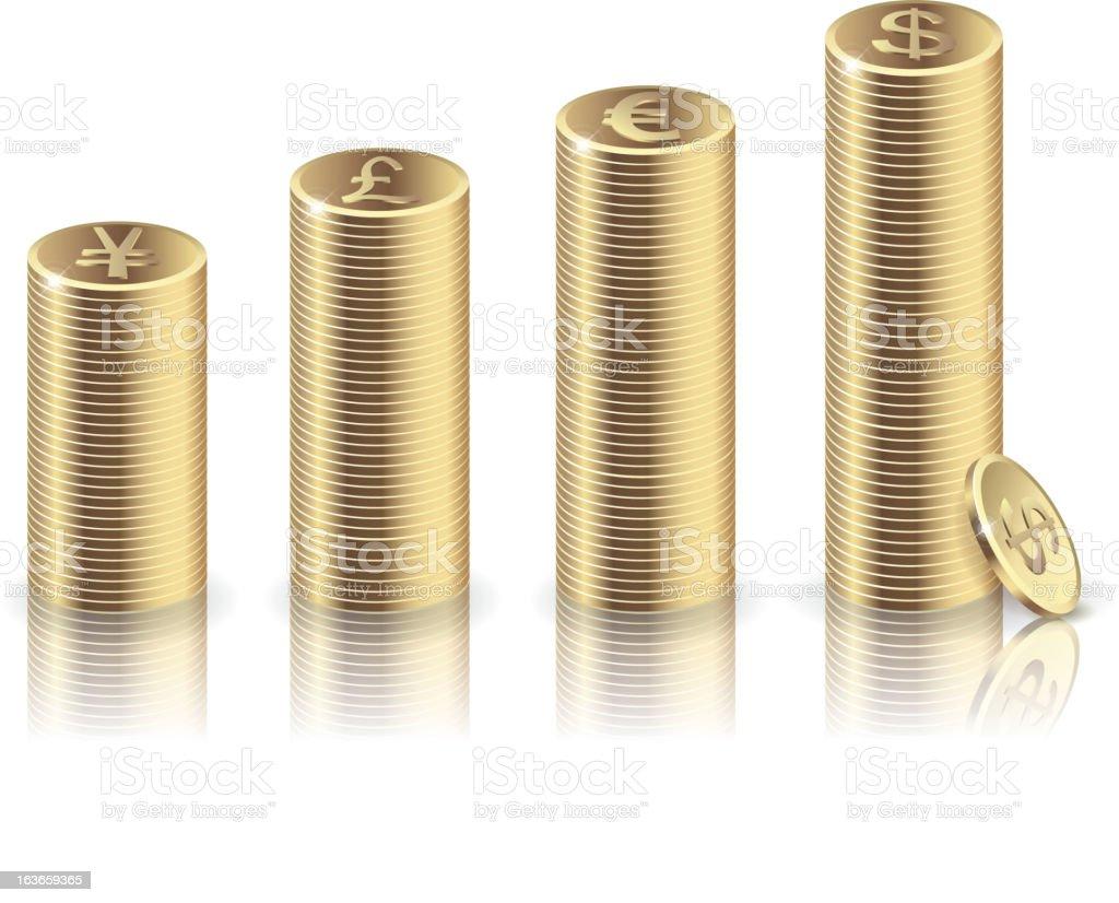 Gold coin royalty-free stock vector art