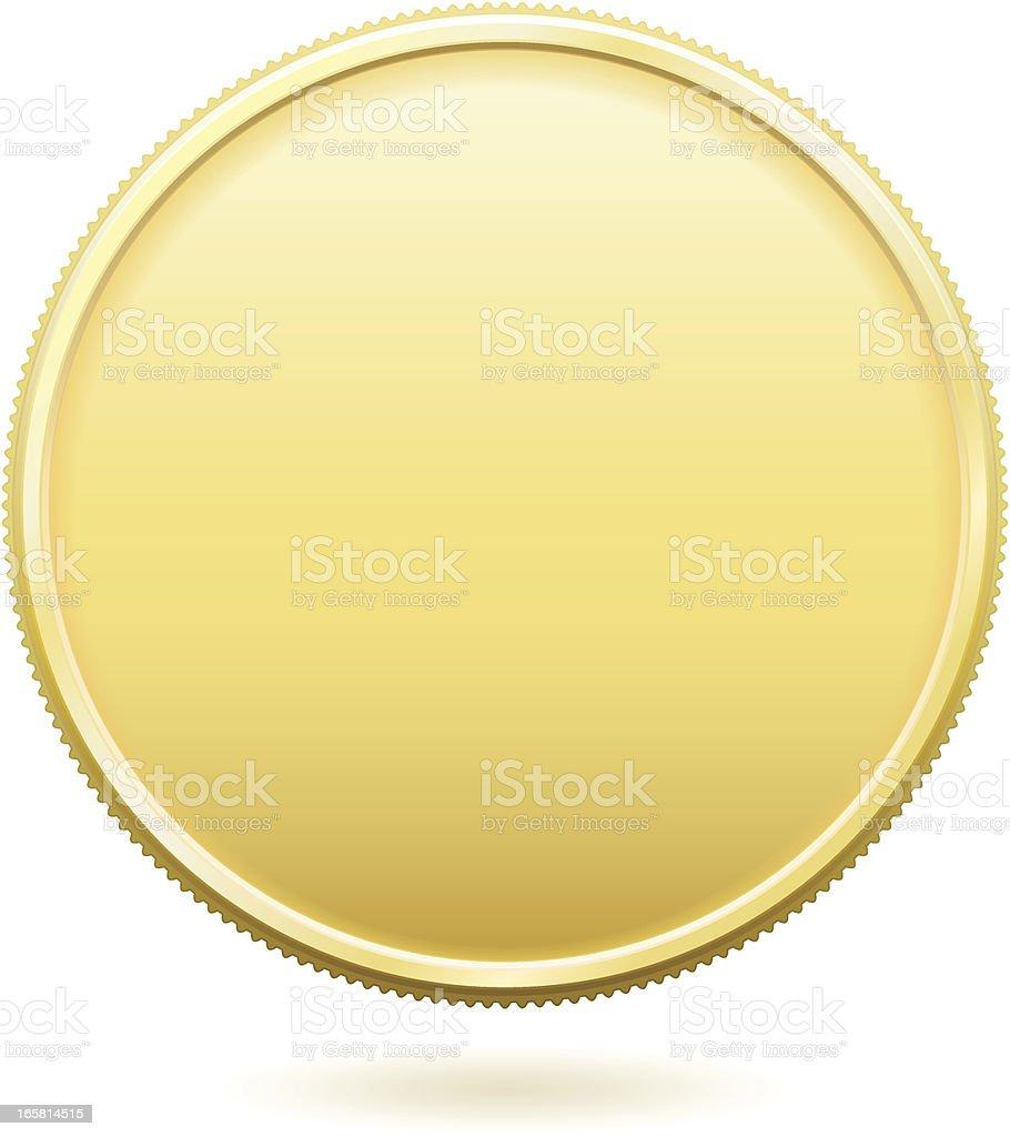 Gold Coin vector art illustration