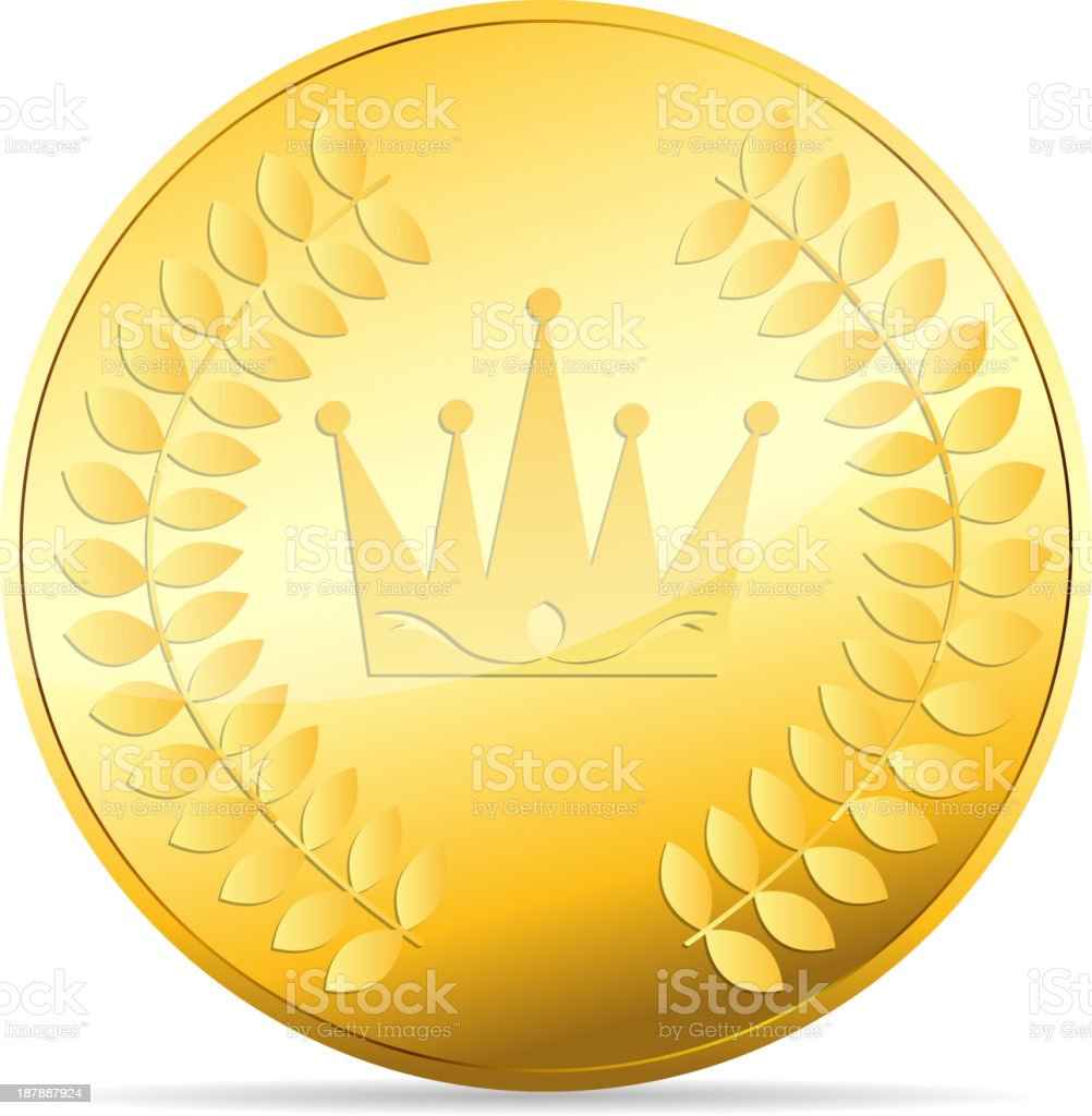 gold coin vector illustration on white royalty-free stock vector art