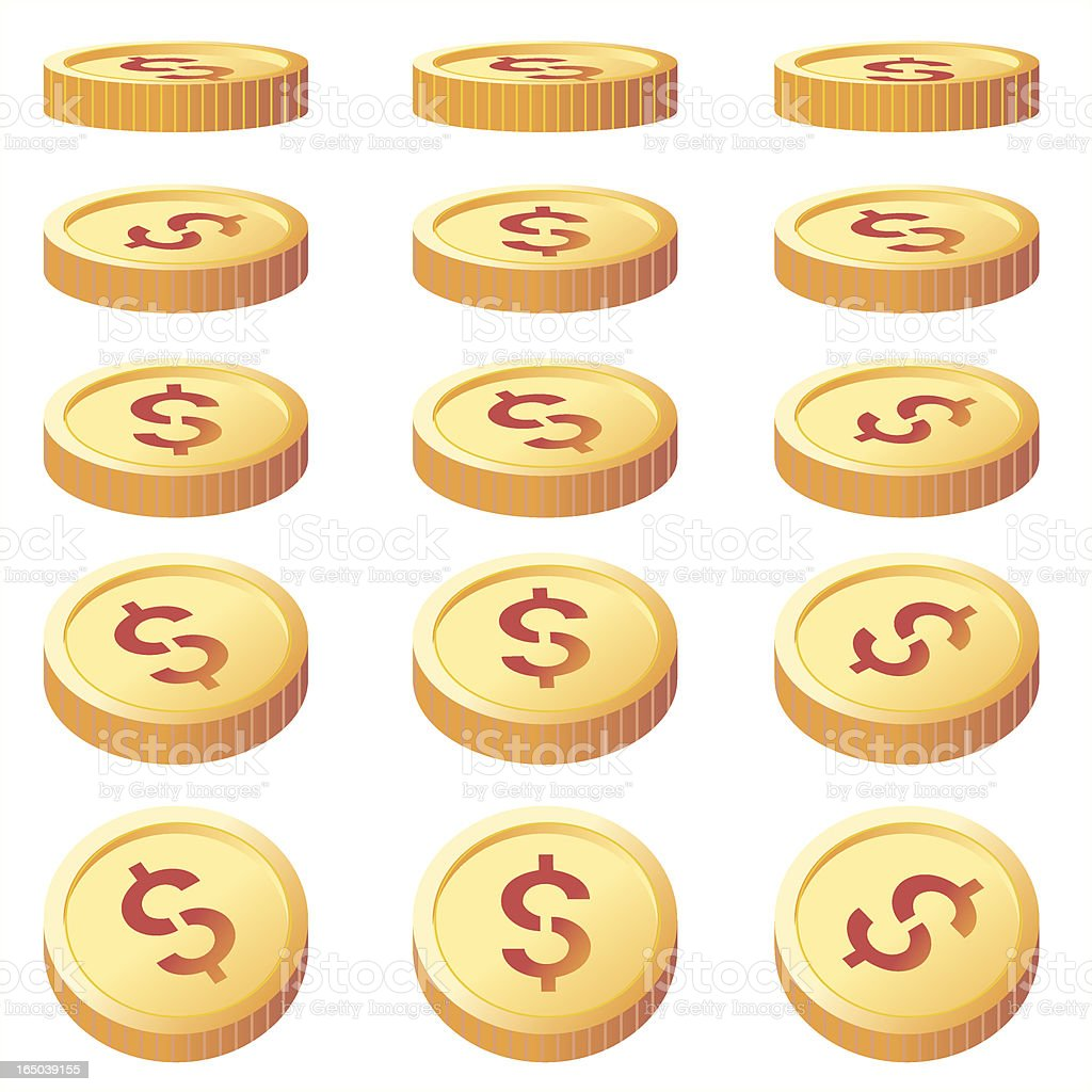 Gold Coins royalty-free stock vector art