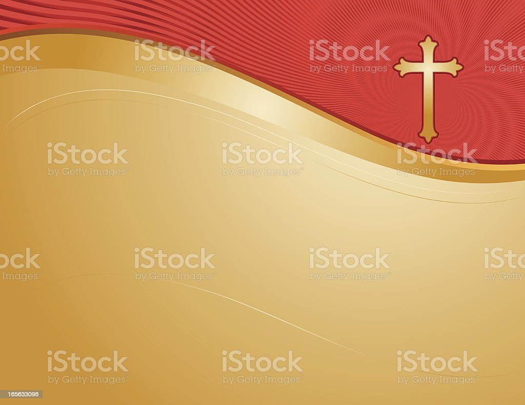 Gold Cross Page vector art illustration