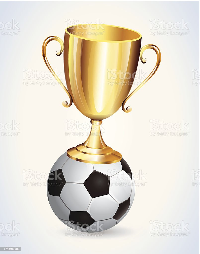 Gold Cup Foot Ball royalty-free stock vector art
