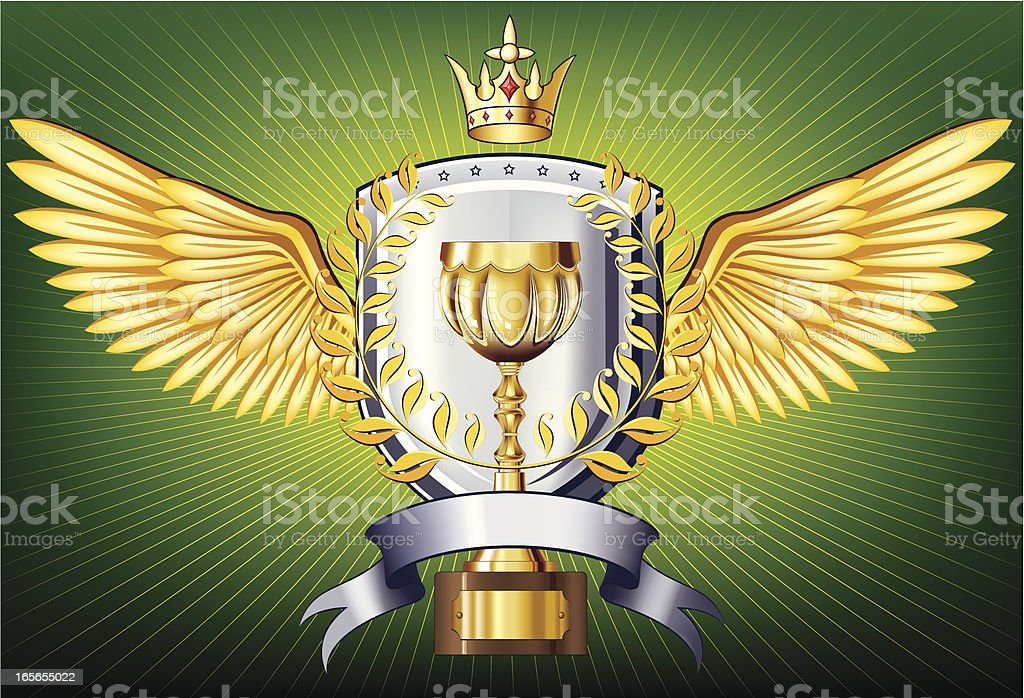 Gold cup insignia royalty-free stock vector art