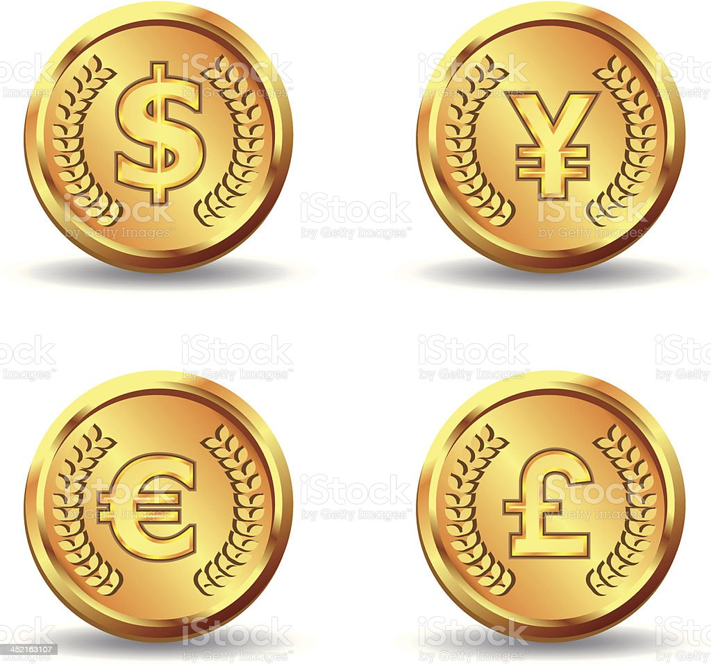 gold currency coin icon royalty-free stock vector art