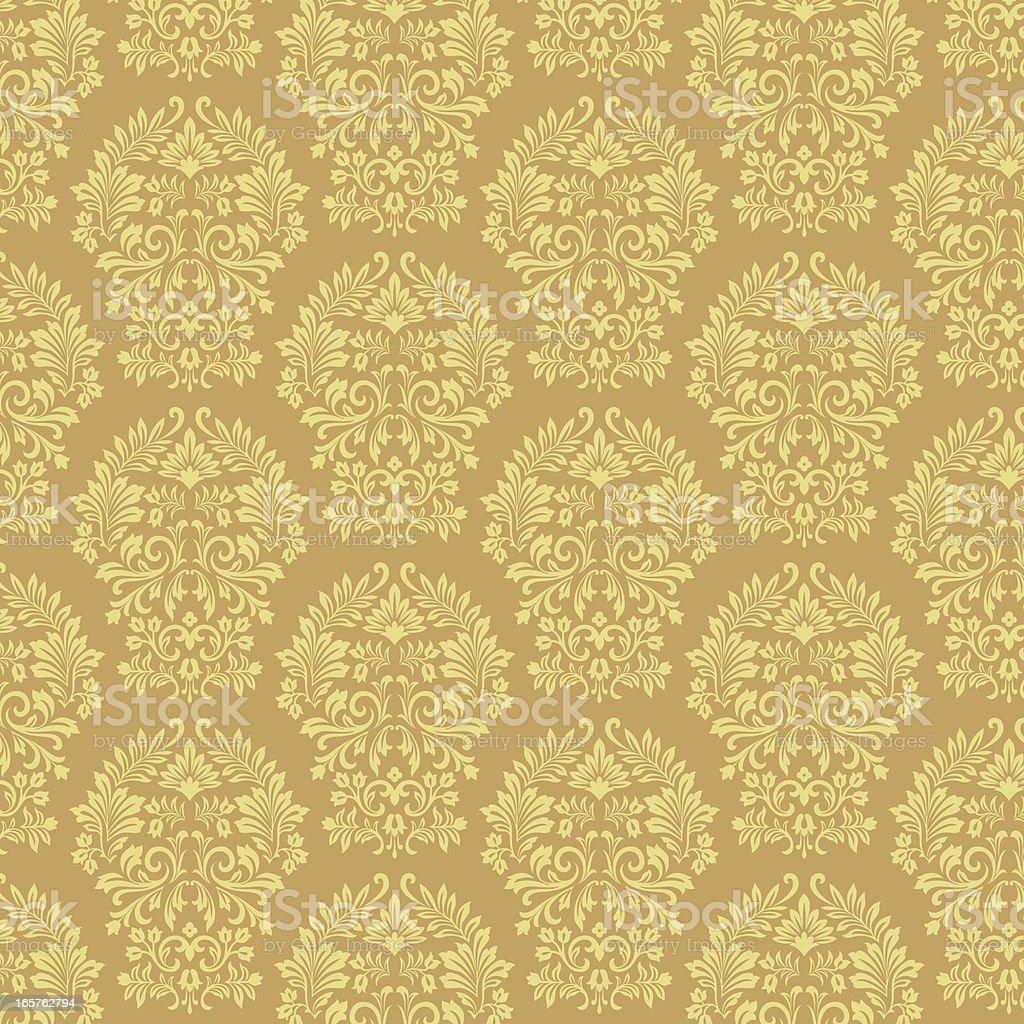 Gold Damask Pattern royalty-free stock vector art