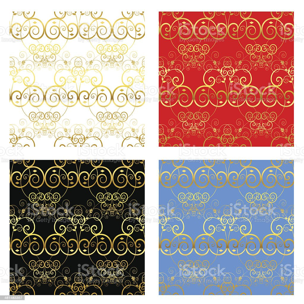 Gold Decorative Backgrounds royalty-free stock vector art