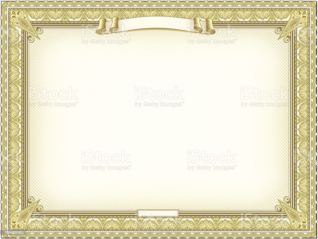Gold detailed certificate royalty-free stock vector art