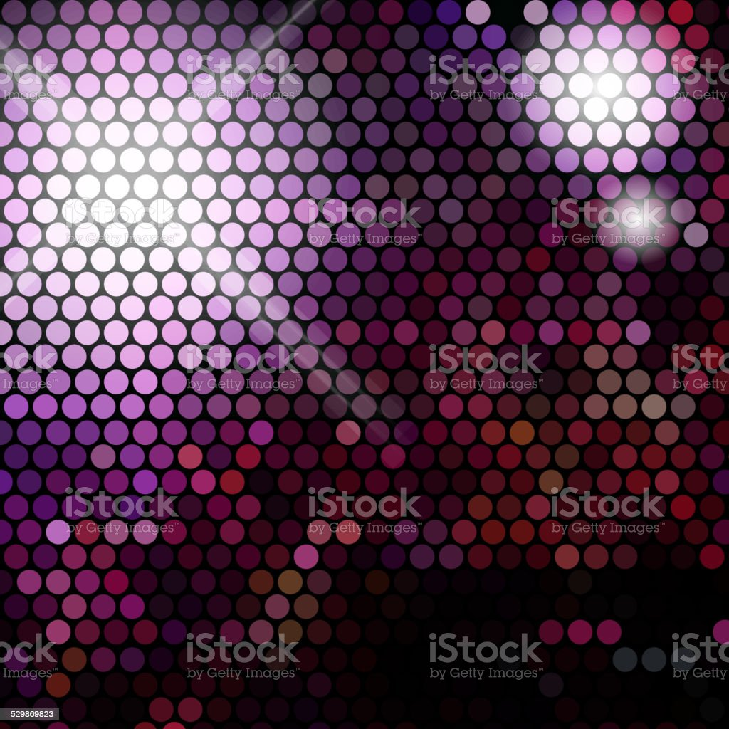 Gold disco lights - vector abstract background vector art illustration