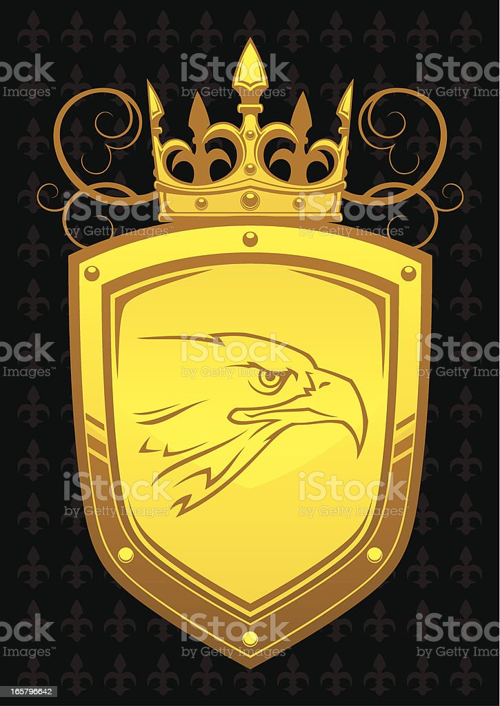 Gold eagle royalty-free stock vector art