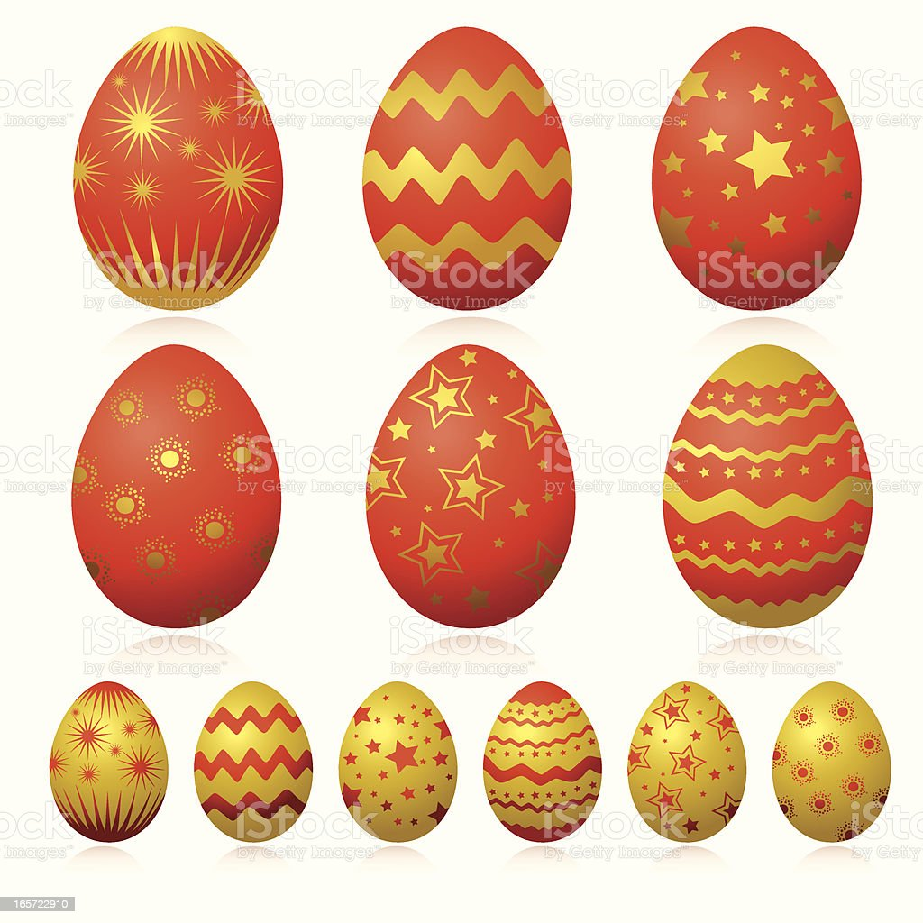 Gold Easter Egg royalty-free stock vector art