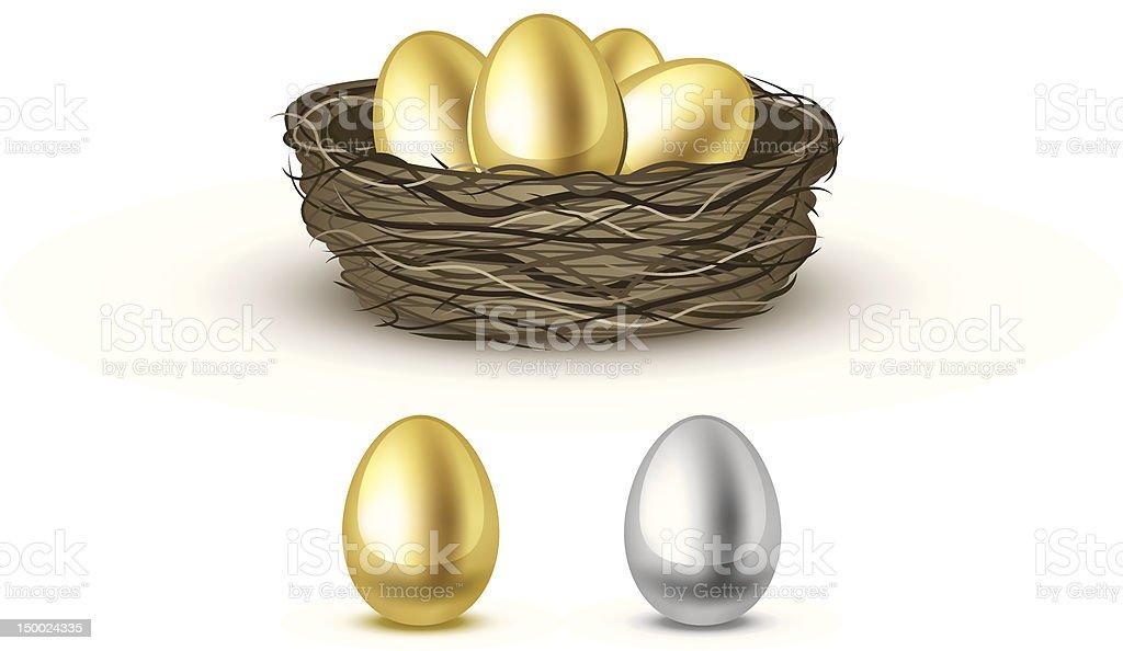Gold eggs royalty-free stock vector art