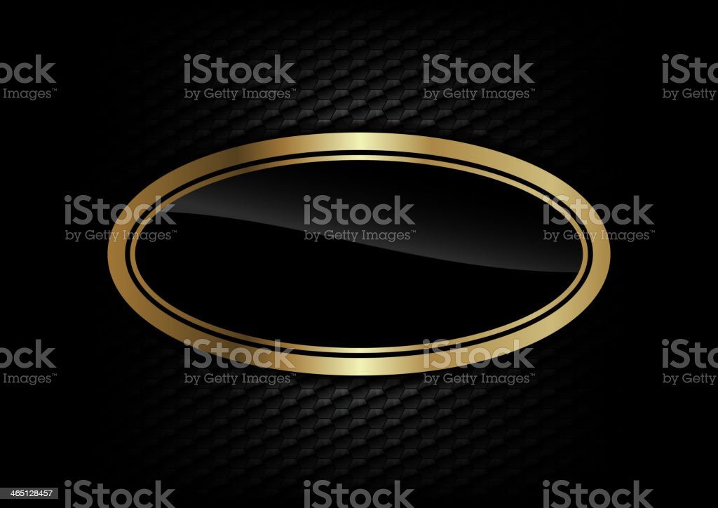 gold ellipse vector art illustration