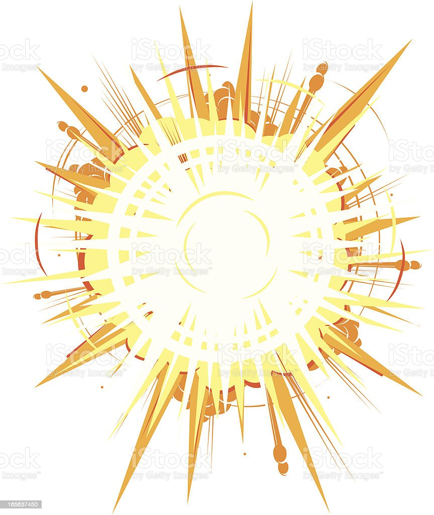 Gold Explosion vector art illustration