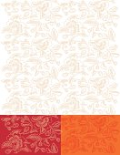 Gold Flower Backgroung Seamless Embroidered Pattern