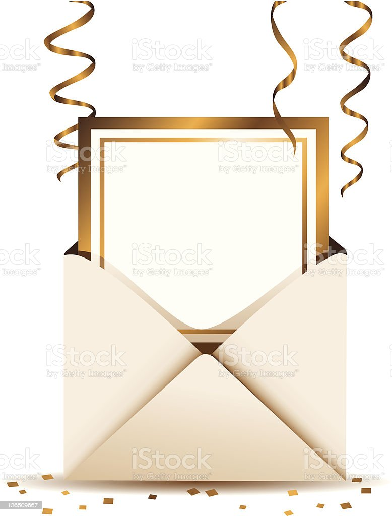 Gold Foil Invitation royalty-free stock vector art