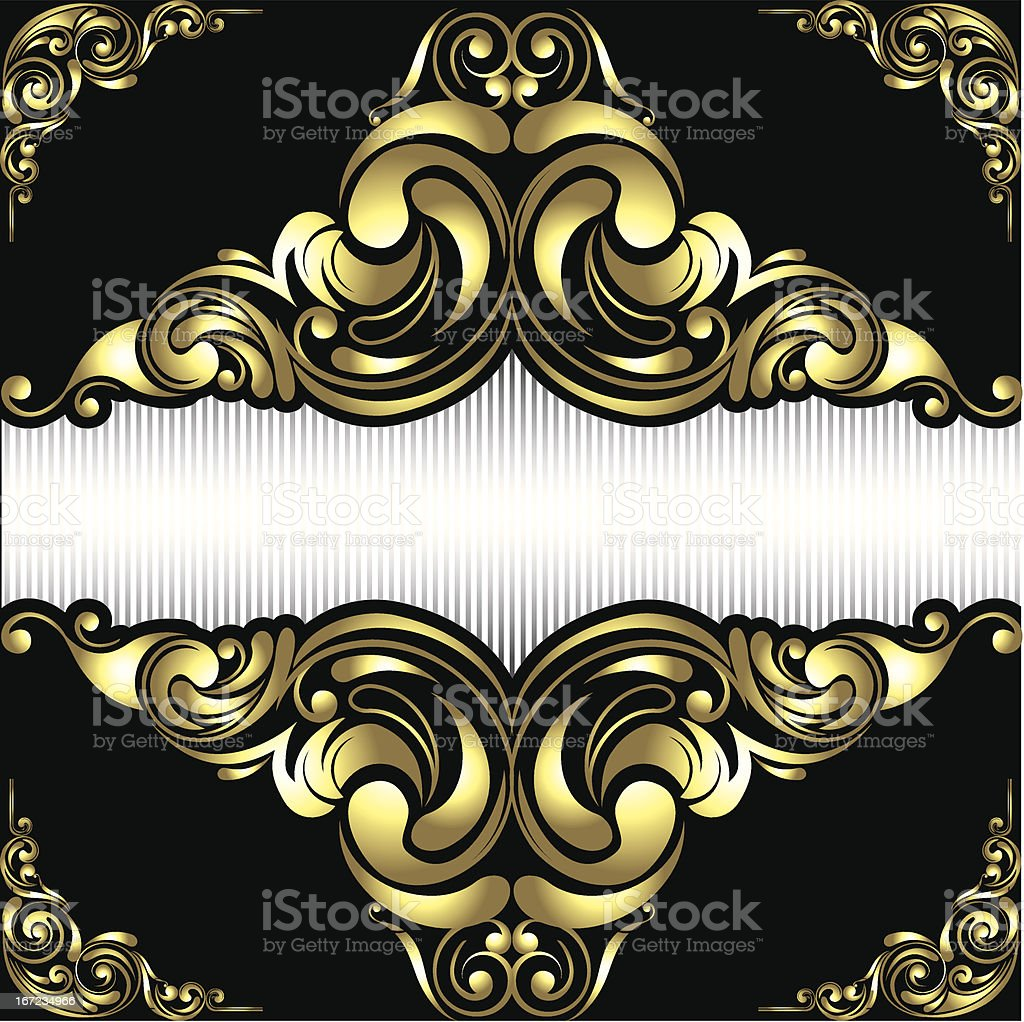 Gold frame background royalty-free stock vector art