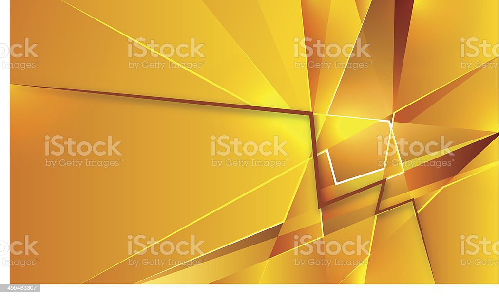 Gold geometric abstraction vector art illustration