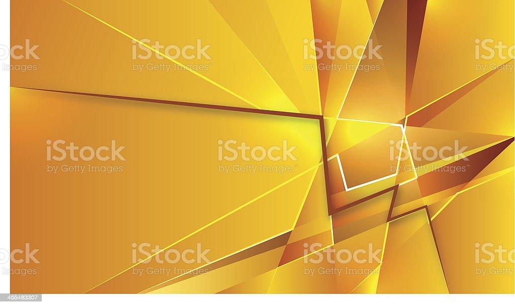 Gold geometric abstraction vector art illustration