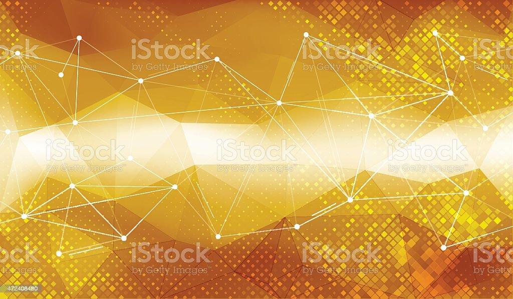 Gold geometric background vector art illustration