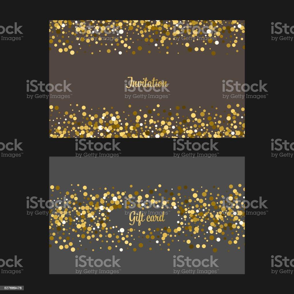 Gold glitter background vector art illustration