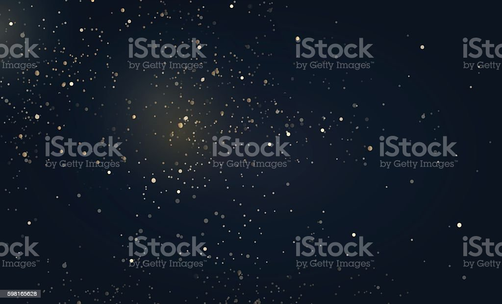 Gold glitter dust texture. vector art illustration