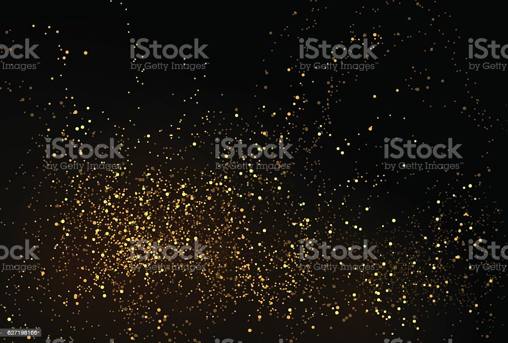 Gold glitter powder splash vector background vector art illustration