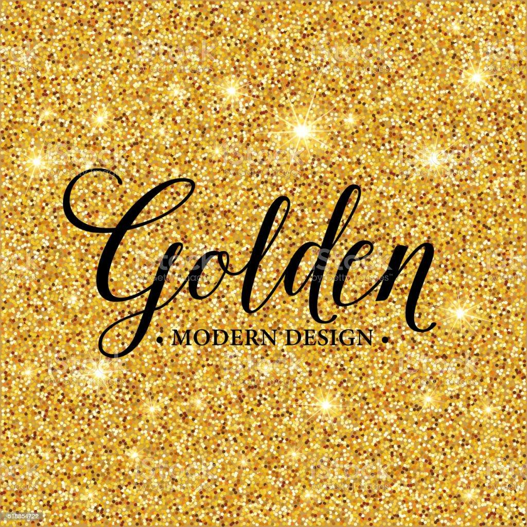 Gold glitter texture for background. Vector illustration vector art illustration